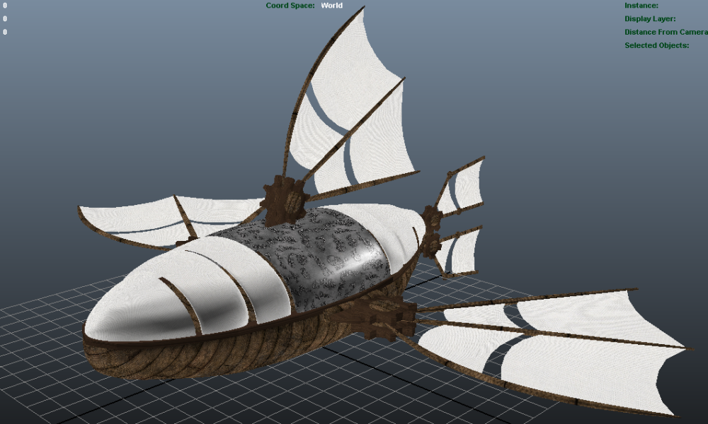 Ship before rendering